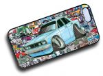 Koolart STICKERBOMB STYLE Design For Retro Mk2 Ford Cortina Tina Hard Case Cover Fits Apple iPhone 4 & 4s